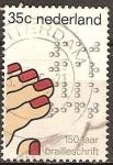 Sellos de Europa - Holanda -  150a Aniv de la invención del Braille.