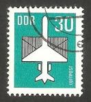 Stamps Germany -  8 - Avión y carta