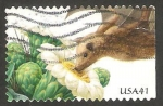 Stamps United States -  Flor y murciélago