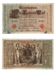 monedas del Mundo : Europa : Alemania :  1000 marcos
