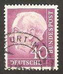 Sellos de Europa - Alemania -  71 - Presidente Thedore Heuss