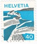 Stamps Switzerland -  PAISAJE LAGO LEMAN