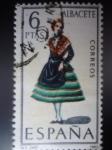 Stamps Spain -  Ed:1768- Trajes Típicos Españoles- ALBACETE (Nº2)