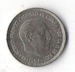 monedas de Europa - España -  05A - FRANCISCO FRANCO CAUDILLO DE ESPAÑA POR LA GRACIA DE DIOS 1957