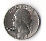 monedas de America - Estados Unidos -  03A - LIBERTY 1972 GEORGE WASHINGTON
