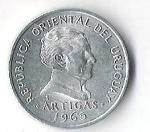 monedas de America - Uruguay -  01A - ARTIGAS 1965