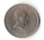 monedas de America - Uruguay -  02A - ARTIGAS 1959