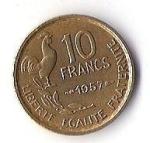 monedas de Europa - Francia -  02B - LIBERTE EGALITE FRATERNITE 1957