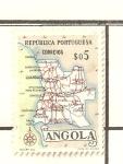 Stamps Africa - Angola -  MAPA