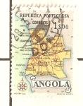 Sellos del Mundo : Africa : Angola : MAPA