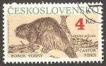 Sellos del Mundo : Europa : Checoslovaquia :  2865 - Fauna, castor