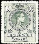 Stamps Europe - Spain -  Alfonso XIII Medallón