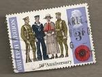Sellos de Europa - Reino Unido -  50 Aniversario Legión Británica