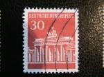 Stamps Germany -  Puerta de Brandenburgo, Berlín