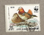 Sellos de Asia - Corea del norte -  Ave Aix galericulata