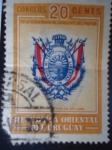 Stamps Uruguay -  Con Libertad ni ofendo ni Temo-Centenario de la Muerte del prócer. Escudo de Armas de Artigas.