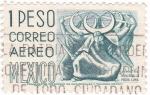 Sellos de America - México -  PUEBLA-DANZA DE LA MEDIA LUNA