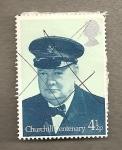 Stamps United Kingdom -  Centanario de Churchill