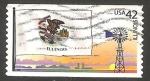 Sellos del Mundo : America : Estados_Unidos :  Bandera del Estado de Illinois