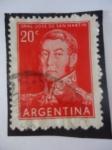 Stamps Argentina -  Genaral: José de San Martín (1778-1850)
