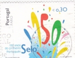Stamps Portugal -  150 AÑOS DEL PRIMER SELLO PORTUGUES