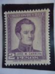 Sellos de America - Chile -  Militar:José Miguel Carrera Verdugo 1785-1821.(Pres. de la junta provicional de Gobierno 1811 al 181