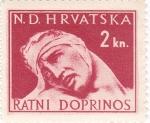 Stamps Croatia -  HERIDO DE GUERRA