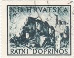 Sellos de Europa - Croacia -  RATNI DOPRINOS