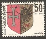 Sellos del Mundo : Europa : Checoslovaquia :  1750 - Escudo de la ciudad de Manetin
