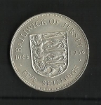 monedas de Europa - Reino Unido -  Jersey / Conquista Normanda./ (rev.)