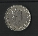 monedas de Asia - Hong Kong -  Elizabeth II / Anverso
