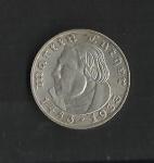 monedas del Mundo : Europa : Alemania :  Martin Luther / anverso