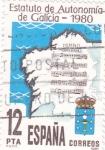 Sellos de Europa - España -  Estatuto de Autonomía de Galicia   (P)