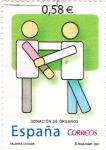 Stamps Spain -  VALORES CÍVICOS-Donación de Organos  (P)