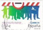 Sellos de Europa - España -  VALORES CÍVICOS- Lucha Contra el tráfico de Personas (P)