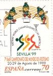Stamps Spain -  Campeonato Mundial de Atletismo- Sevilla 99      (P)