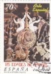 Sellos de Europa - España -  LAS EDADES DEL HOMBRE- Arte español    (P)
