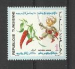 Sellos de Africa - Túnez -  Capsicum