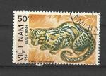 Sellos de Asia - Vietnam -  felinos