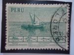 Sellos de America - Perú -  Industria Pesquera- Lancha Bolichera.