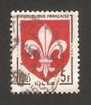 Stamps : Europe : France :  1186 - Escudo de la ciudad de Lille