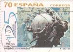 Sellos de Europa - España -  DÍA DEL SELLO- Monumento a  la U.P.U  Berna (Suiza)     (P)