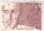 Sellos de Europa - España -  V Centenario de Fco. de Vitoria   (P)