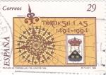 Sellos de Europa - España -  Tratado de Tordesillas     (P)