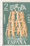 Stamps Spain -  EUROPA CEPT     (P)
