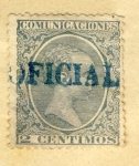 Stamps Spain -  Alfonso XIII Ed 1889 Oficial