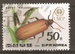 Stamps North Korea -  DICTOPTERA  AURORA