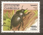 Stamps Cambodia -  GEOTRUPES