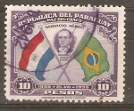 Sellos de America - Paraguay -  PRESIDENTE  VARGAS  Y  BANDERAS