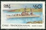 Sellos de America - Chile -  CRUZERO OHIGGINS - TRADICION NAVAL